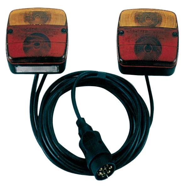 Westfalia 3 Funktions-Anhängerleuchte mit Brems- und Blinklicht und Kabel