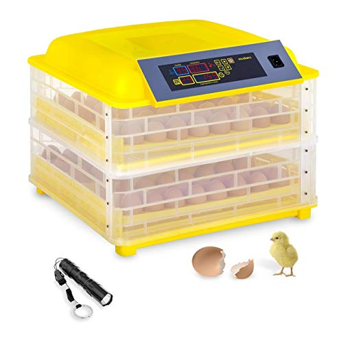 incubato Brutapparat Inkubator Brutmaschine IN-96DDI (für 96 Eier, inklusive Schierlampe, 20-50 °C, intelligente Temperaturregelung, 120 W Motor)