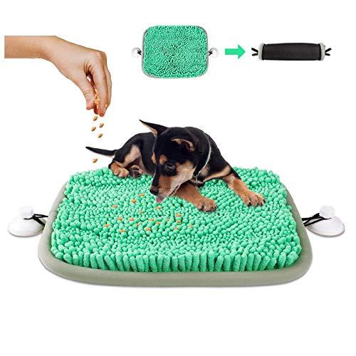look envy Schnüffelteppich für Hund, rutschfest Haltbare Waschbar Schnüffelkissen mit 2 Saugnapf Langsame Fütterung Intelligenzspielzeug, Grün