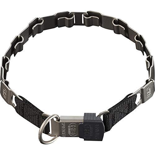 Sprenger Hundehalsband Neck-Tech Fun mit ClicLock Verschluss I Hundehalskette aus rostfreiem mattem Edelstahl, Flache austauschbare Gliederkette, 48cm