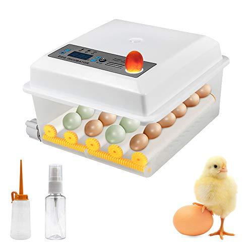 Inkubator Digitales Brutmaschine Vollautomatisch 16 Eier Automatische Ei-Inkubator Intelligent Brutautomat Motorbrüter mit Temperaturregelung für Huhn Enten Gänse Geflügel Taube Wachtel (16 Eier)