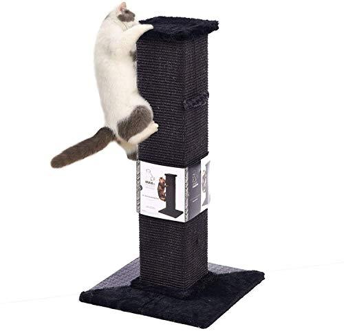 PAWZ Road Kratzbaum für Katzen Sisal mit Katzenspielzeug Kratzen Tower Katzenkratzbaum Kratzsäule Kratzpsäulen Höhe 82cm