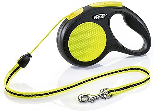 flexi New NEON M Seil 5 m schwarz/neongelb für Hunde bis 20 kg