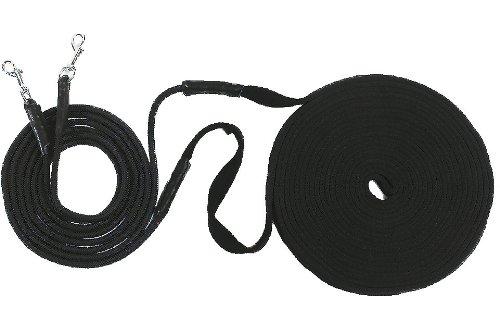 USG Doppellonge, schwarz, soft, 16 m