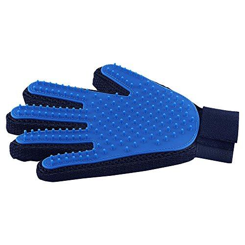 Fellpflege-Handschuh für Haustiere, sanfte Enthedderungsbürste – Effizienter Tierhaarentferner Handschuh – verbessertes Fünf-Finger-Design