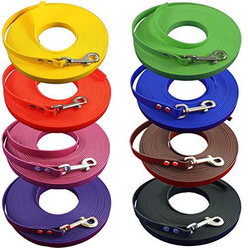 bio-leine Schleppleine aus Biothane ohne Handschlaufe für kleine Hunde, 9 mm breit, 3-20m, 29 Farben, schmutz- und Wasserabweisende Hundeleine I individuell anpassbar
